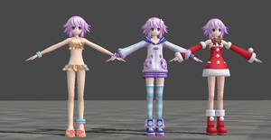 Hyperdimension Neptunia Mk2 - Neptune XPS Download by CreamFireballXNALara