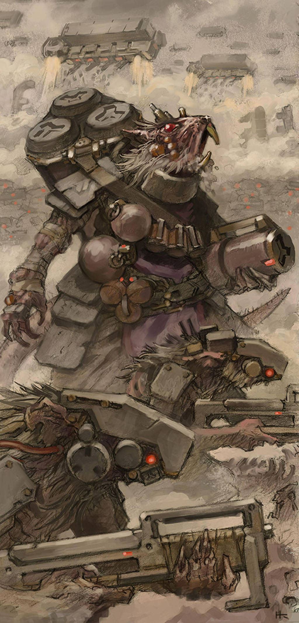 Fanart Friday # 18 - WH40K - Star Skaven by nehsan-darke