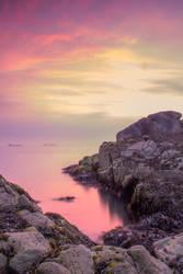 Sunrise between the rocks by Wanowicz