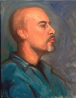 Male Portrait by ShellzArt