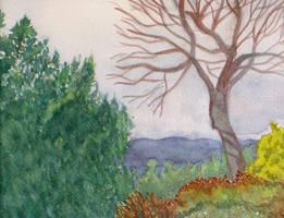 Watercolor Landscape by ShellzArt