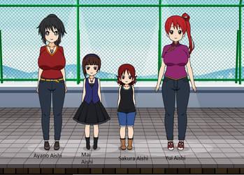 Ayano x Yui rio family by Mysticlove23