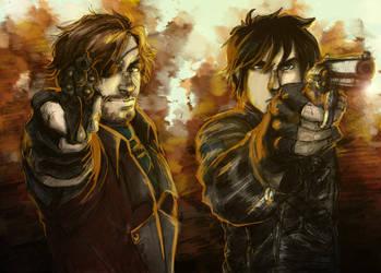 Thalos y Johan by black3