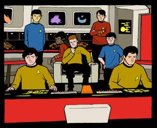 Joel Carroll Star Trek TOS quick colors by madedd