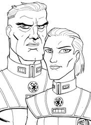 Star Wars Legacy Moff Veed and Calixte by madedd