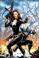 Black Widow and Wolverine by FlowComa