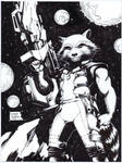 Rocket Raccoon commission by FlowComa