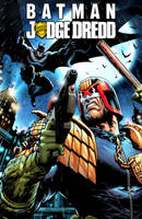 Batman VS Judge Dredd by FlowComa