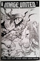 The Darkness VS Angelus sketch cover by FlowComa