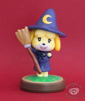 Isabelle Halloween Witch Custom Amiibo by Amandkyo-Su