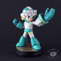 Brick Mega Man Custom Amiibo by Amandkyo-Su