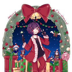[OC] Christmas with Hajime and friends by MarnyQuinn