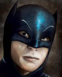 Adam West is Batman colored by HenryTownsend