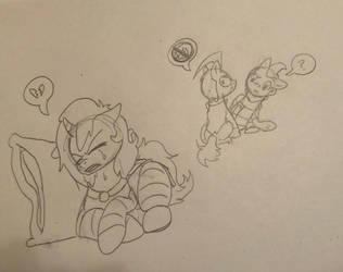 Pony Town Invader Zim- Dib Hates Gaz by Kabuki-Sohma