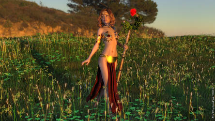 Fantasy Wallpaper_004 (Magic Sunrise) by MrTibetanFox