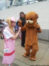 Helga vs. Pedobear by HaliaCosplay