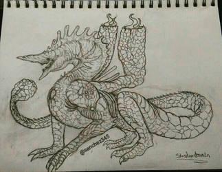 Volcanic Chimney Dragon by Sanchez15
