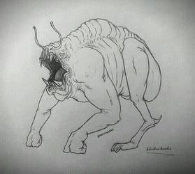Ugly Alien Amphibian by Sanchez15