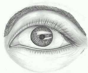 Learning how to draw an eye by vikaherbs