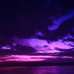 Purple Sky on a Cloudy Day by Melissatulloch