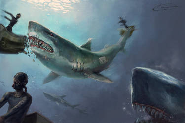 Shark Attack by kimag3500
