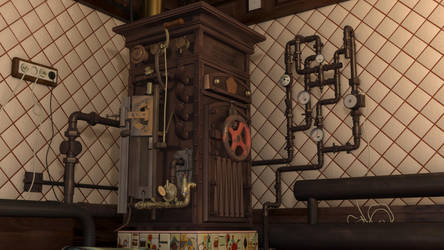 Soviet Steampunk Boiler 3 by melsikay