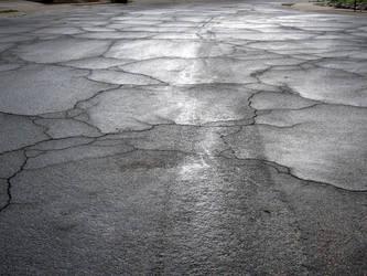 Rainy Cracked Street 2 by LyciaStorm