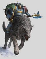 Warhammer 40k 'Curse of the Wulfen' by AKIMBLYA