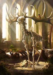 Megaloceros giganteus by AlsaresLynx
