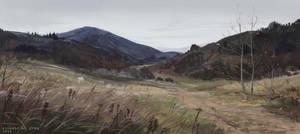 Hills in October by AlsaresLynx