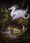 peacock dragon by AlsaresLynx