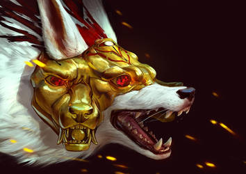 Golden mask by AlsaresLynx