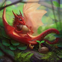 Tiny Dragon by AlsaresLynx