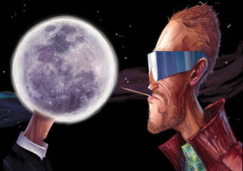 Moon and Shades Rodriguez: Face - Off (Colour) by Penners