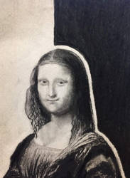 Charcoal and Pencil: Mona Lisa by vt2000