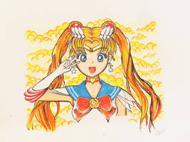 Color Pencil: Super Sailor Moon by vt2000