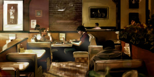 Brothers at Breakfast by 16th-of-a-twigg