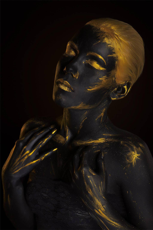 Black Gold Body-art by Afemera on DeviantArt