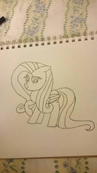 fluttershy fan art :3 by thevideogameguy95