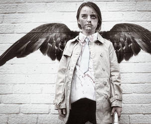 Mini Castiel Halloween 2013 by Harpyimages