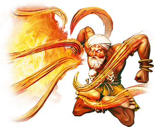 Street Fighter 5 Dhalsim by hes6789
