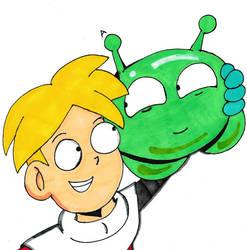 Gary and MoonCake by CartoonistNerd