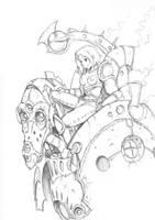 Steampunk mecha by RAScarpate