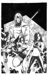 Wolverine, X23 and Gambit Commission by ToneRodriguez