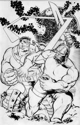 Hulk vs. Darkseid Commission by ToneRodriguez