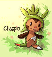Chespin by rabbitsontherun