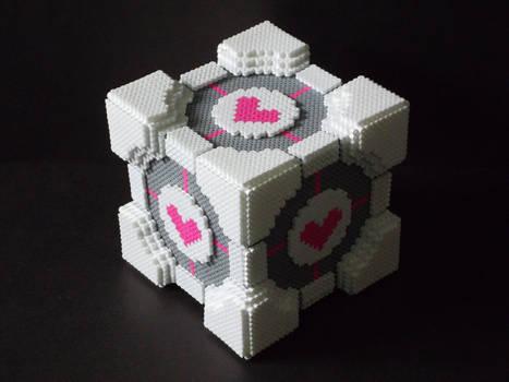 Perler Bead Companion Cube by EP-380
