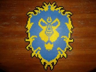 Perler Bead Alliance Crest by EP-380