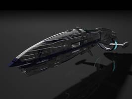 Space ship, civil ship 2 by SmirnovArtem