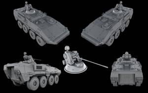 Infantry combat vehicle by SmirnovArtem